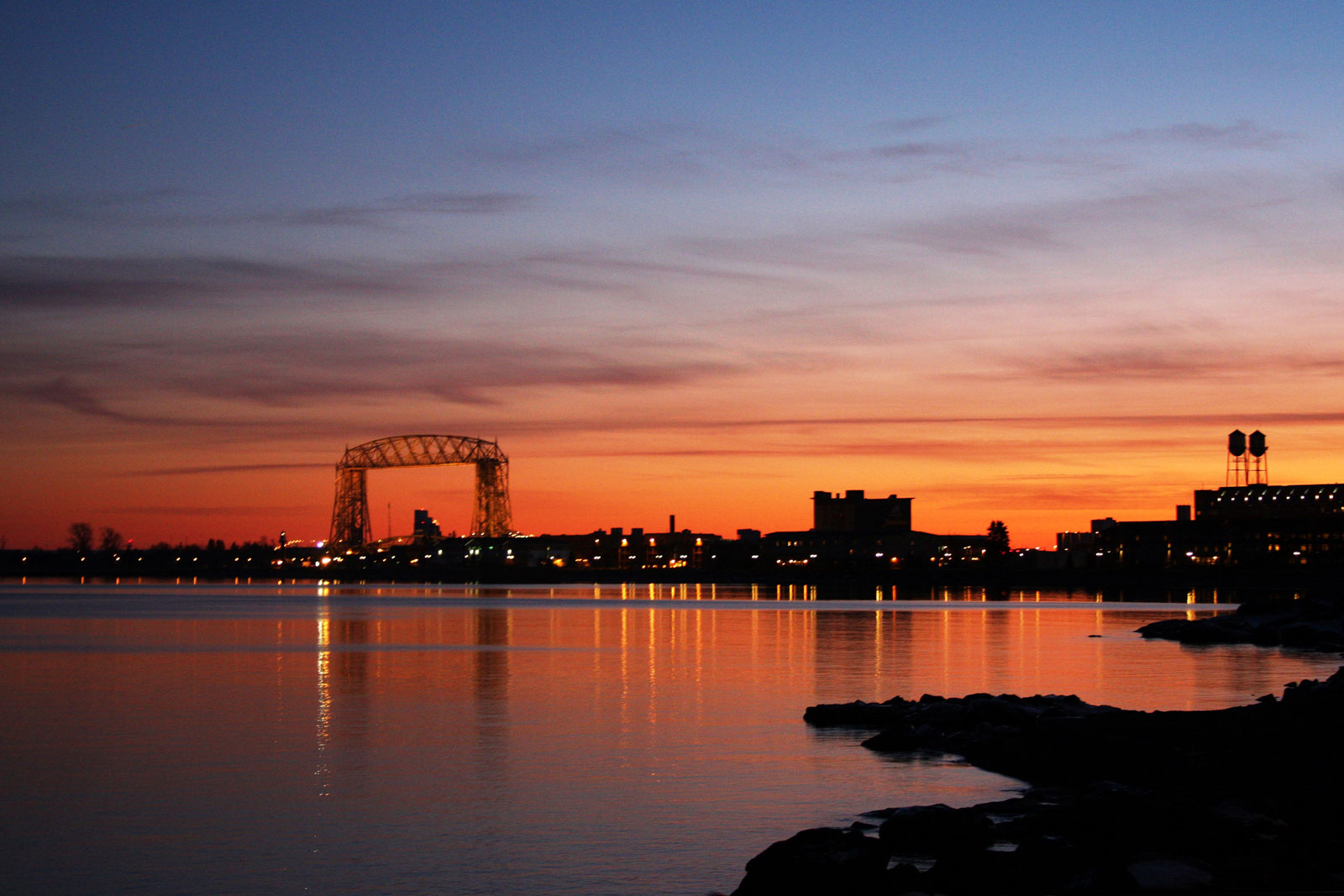 Bridge Sunset Duluth Entertainment Convention Center