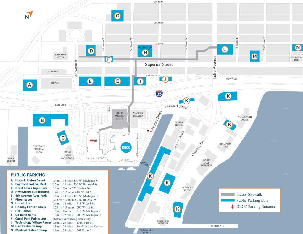 C Park/Downtown Parking - Duluth Entertainment Convention Center on